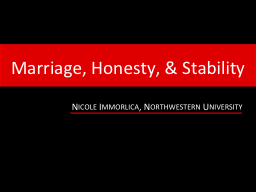 Marriage, Honesty, & Stability
