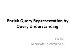Enrich Query Representation by Query Understanding