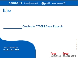 Outlook: TT-IBE New Search