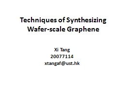 Techniques of Synthesizing