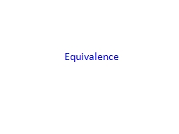 Equivalence PowerPoint PPT Presentation