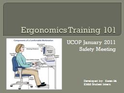 Ergonomics Training 101