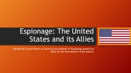 Espionage: The United States and its Allies