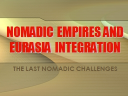 NOMADIC EMPIRES AND