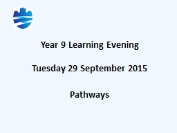 Year 9 Learning Evening