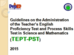 Guidelines on the Administration of the Teacher's English