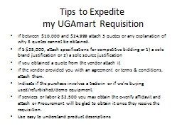 Tips to Expedite