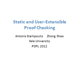 Static and User-Extensible