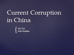 Current Corruption in China
