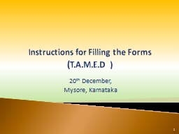 Instructions for Filling the Forms