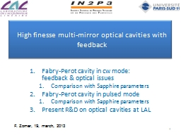High finesse multi-mirror optical cavities PowerPoint PPT Presentation