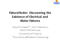 FixtureFinder: Discovering the Existence of Electrical and