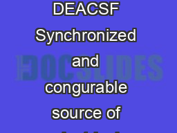 Work supported in part by US Department of Energy contract DEACSF Synchronized and congurable source of electrical pulses for xray pumpprobe experiments J