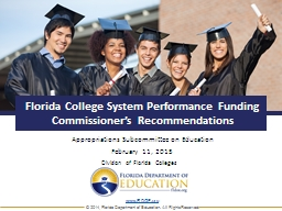 Florida College System Performance Funding Commissioner's