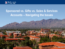 Sponsored vs. Gifts vs. Sales & Services Accounts – N