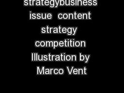 strategybusiness issue  content strategy  competition Illustration by Marco Vent