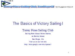 1 The Basics of Victory Sailing I