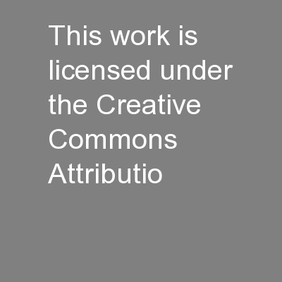 This work is licensed under the Creative Commons Attributio