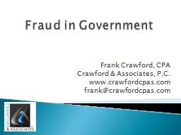 Fraud in Government