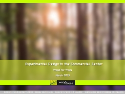 Experimental Design in the Commercial