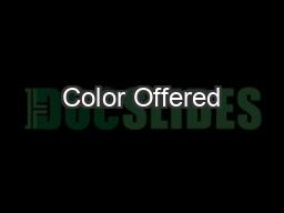 Color Offered