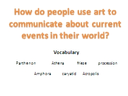 How do people use art to communicate about current events i