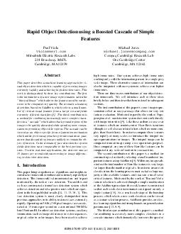 Rapid Object Detection using a Boosted Cascade of Simple Features Paul Viola Michael Jones violamerl