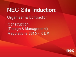 NEC Site Induction: PowerPoint PPT Presentation
