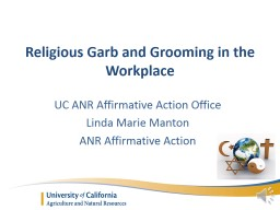 Religious Garb and Grooming in the Workplace