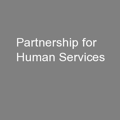 Partnership for Human Services