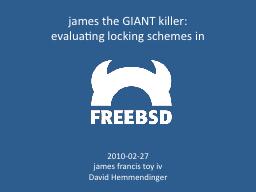 james the GIANT killer: