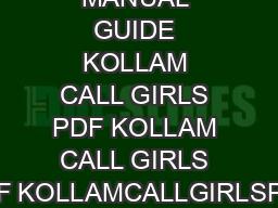 PRODUCT MANUAL GUIDE KOLLAM CALL GIRLS PDF KOLLAM CALL GIRLS PDF KOLLAMCALLGIRLSPDF