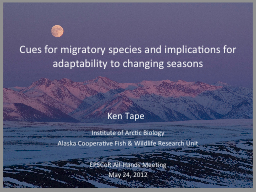 Cues for migratory species and implications for adaptabilit
