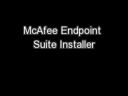 McAfee Endpoint Suite Installer