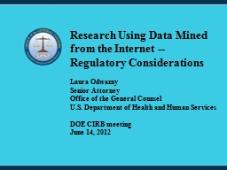 Research Using Data Mined from the Internet --Regulatory Co