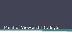 Point of View and PowerPoint PPT Presentation