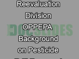 CropLife America and Rise April   Arlington VA Cathryn OConnell Pesticide Reevaluation Division OPPEPA  Background on Pesticide Drift Proposed Labeling Guidance PR Notice Questions  Definition the ph