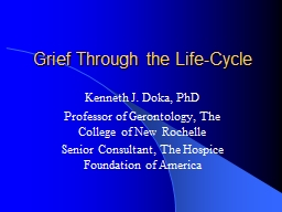 Grief Through the Life-Cycle