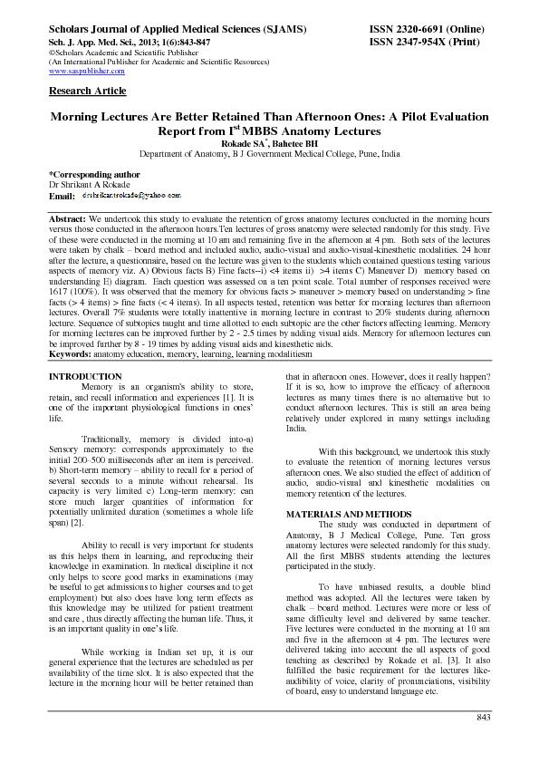Journal of Applied Medical Sciences (