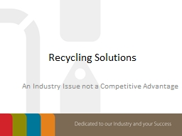 Recycling Solutions PowerPoint PPT Presentation