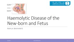Haemolytic Disease of the New-born and