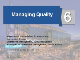 Managing Quality PowerPoint PPT Presentation