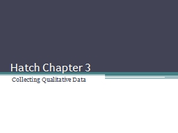 Hatch Chapter 3