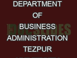 SQC  OR Unit INDIAN STATISTICAL INSTITUTE Bangalore ICllb ti ith n ll ora ti on w ith DEPARTMENT OF BUSINESS ADMINISTRATION TEZPUR UNIVERSITY Announces Certification Program for SIX SIGMA GREEN BELT
