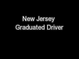 New Jersey Graduated Driver