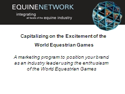 A marketing program to position your brand as an industry l