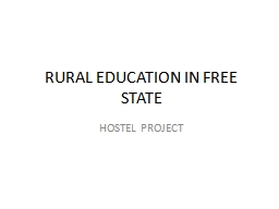 RURAL EDUCATION IN FREE STATE