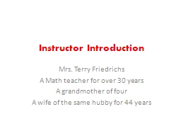 Instructor Introduction