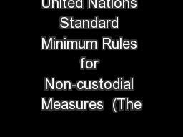 United Nations Standard Minimum Rules for Non-custodial Measures  (The