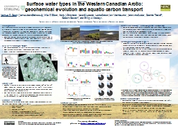 Surface water types in the Western Canadian Arctic: